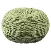 knit pouf
