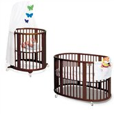Sleepi Bassinet and Crib Set in Walnut