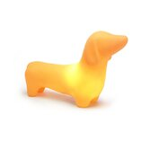 Dachshund Dog Pet Lamp in Sunset Orange