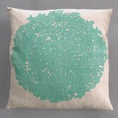 Hydrangea Turquoise Pillow on Natural Linen