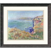 'The Cliff at Varengeville, 1882' by Claude Monet Framed Painting Print