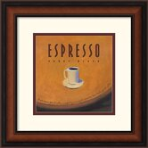 Espresso Framed Art Print by Jillian David Design