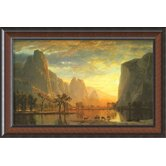 "Valley of the Yosemite, 1864 by Albert Bierstadt, Framed Print Art - 22"" x 32.75"""