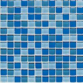 "Legacy Glass 1"" x 1"" Mosaic Tile in Blue Blend"