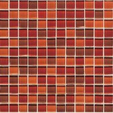 "Legacy Glass 1"" x 1"" Mosaic Tile in Red Blend"