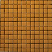 "Lucente 1"" x 1"" Glossy Mosaic in Empire Gold"