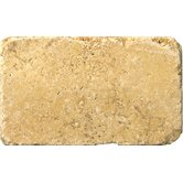 Natural Stone 3&quot; x 6&quot; Travertine Vino Tumbled Tile in Gold
