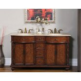 60&quot; Butler Double Bathroom Vanity