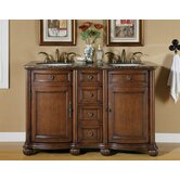 Adela 52&quot; Double Sink Bathroom Vanity Cabinet