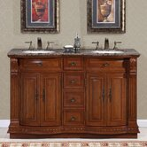 Monica 55&quot; Double Sink Bathroom Vanity Cabinet