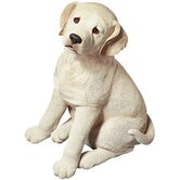 Life Size Labrador Retriever Pup Sculpture in Yellow