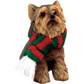 Sitting Yorkshire Terrier Christmas Ornament