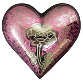 Pink Rose Heart Keepsake Urn
