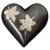 Falling Leaves Heart Keepsake Urn