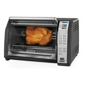 Six Slice Rotisserie Convection Toaster Oven in Black