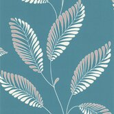 Accents Aubrey Modern Leaf Trail Floral Wallpaper