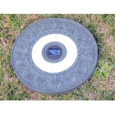 Solar Power Round Stepping Stone in Green Garden (Set of 3)