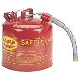 "Type ll Safety Cans - yellow type ii 5 gallonsafety can w/12"" flex sp"
