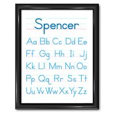 Alphabet Personalized Print with Frame