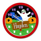 Halloween Ghost Personalized Clock with Red Case