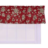 Jeanette Tailored Valance Window Curtain in Red