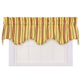 Warwick Medium Scale Stripe Lined Scallop Valance