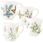 Butterfly Meadow 10 oz. Herbs Mug (Set of 4)