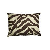 Brown Zebra Oblong Pillow