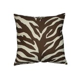 Brown Zebra Square Pillow