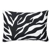 Zebra Synthetic Oblong Pillow