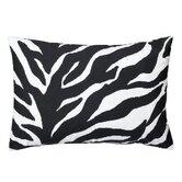 Zebra Synthetic Oblong Pillow