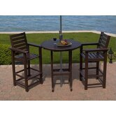 Captain 3 Piece Bar Height Dining Set