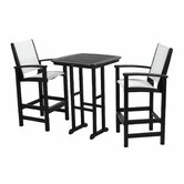 Coastal 3 Piece Bar Chair Set
