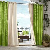 Outdoor Décor Gazebo Outdoor Stripe Grommet Top Curtain Panel in Green
