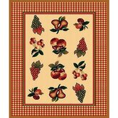 African Adventure Fruit Novelty Rug