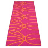 Just for Kids Orange/Pink Ribbon Kids Rug