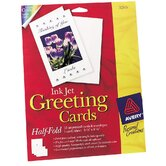 "20 Count 5-1/2"" x 8-1/2"" Ink Jet Blank Greeting Card"