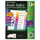 EcoFriendly Ready Index Table of Contents Dividers