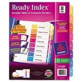 Ready Index Contemporary Table of Contents Dividers in Multi