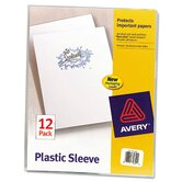 Plastic Sleeves, 12/Pack