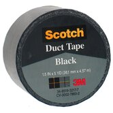 1.5&quot; X 5 Yards Black Scotch&reg; Duct Tape 1005-BLK-1P