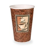 Polycoated Paper Cup, Hot, 16 oz., Java Design, Brown (1000 Per Order)