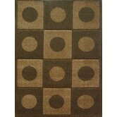 Aspen Brown Dots & Squares Rug