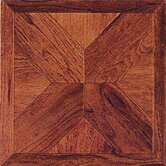 Vinyl Machine Cherry Wood Cross Floor Tile (Set of 45)