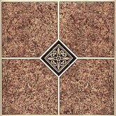 Vinyl Machine Marble Traditional Floor Tile (Set of 45)