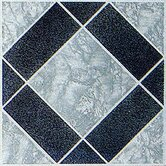 Vinyl Black / Aqua Diamond Floor Tile (Set of 45)