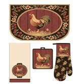 Medley Rooster Kitchen Set (Set of 4)