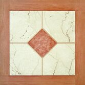 Paramount 16&quot; x 16&quot; Vinyl Woodtone / White Marble Tiles (Set of 6)