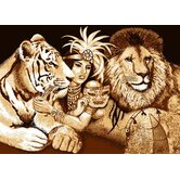 Zone Indian, Tiger and Lion Novelty Rug
