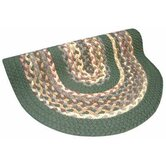 Minuteman Sage Green Solids with Mauve Accents Multi Rug